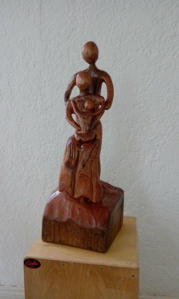 Sculpture noces de bois