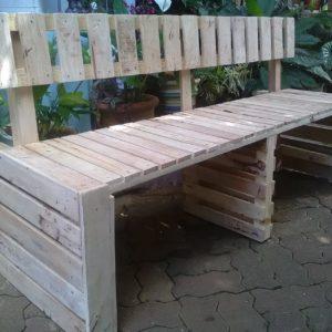 Bench avec dossier en palettes