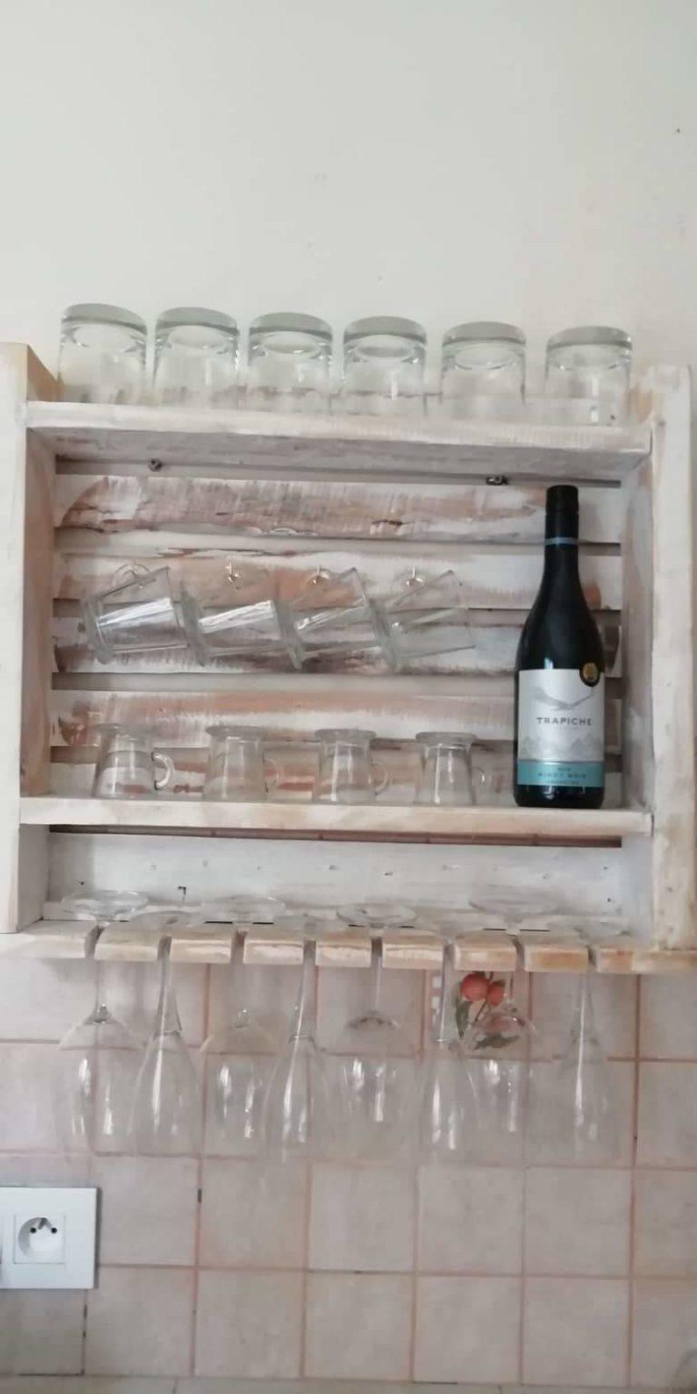 Porte-verres en palettes