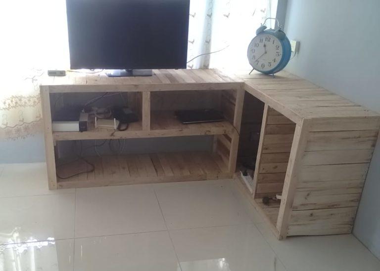 Meuble salon TV en palettes